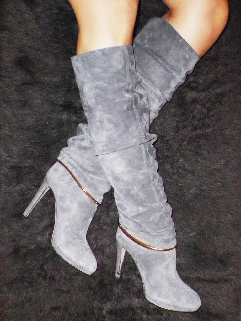 Sergio-Rossi-Grey-Boots-with-Metal-Detail-S