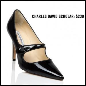 Charles David Scholar Black Patent Mary Jane Pump