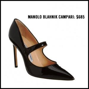 Manolo Blahnik Campari Black Patent