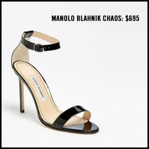 Manolo Blahnik Chaos Ankle Strap Pump