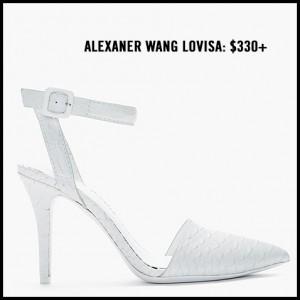 Alexander Wang Lovisa White Ankle Strap Pump