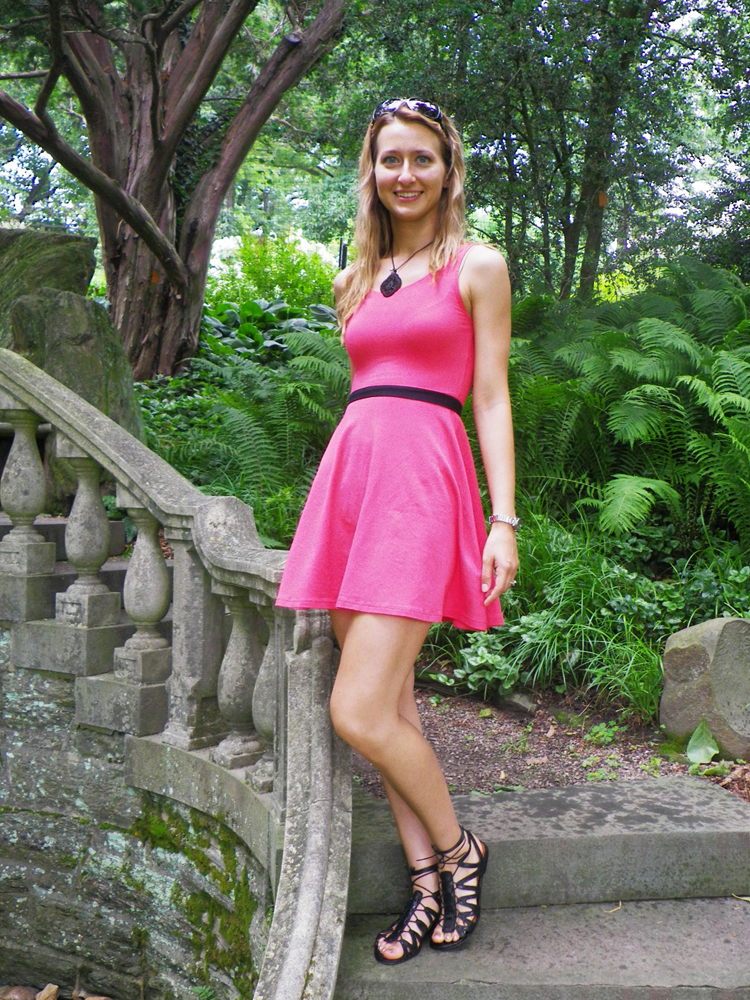 Pour-la-Victoire-Sandals-Pink-Dress