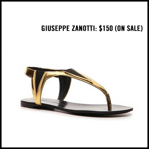 Giuseppe-Zanotti-Gold-Flat-Sandal
