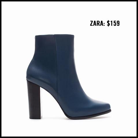 Zara-Navy-Ankle-Boot