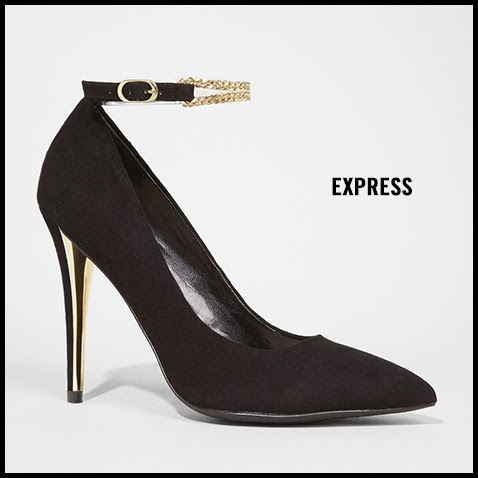 Express-Chain-Ankle-Strap-Suede-Pump