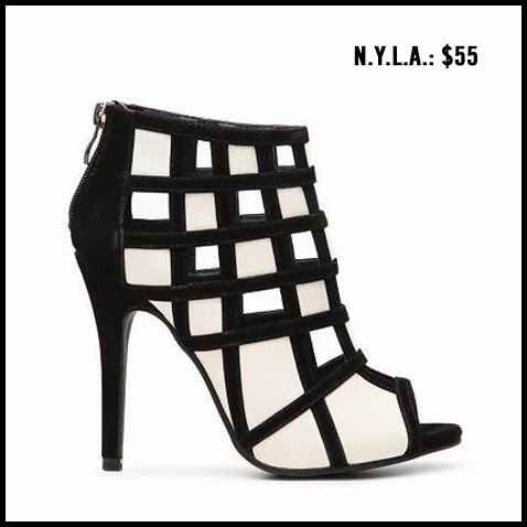 NYLA-Geometric-Black-and-White-Bootie
