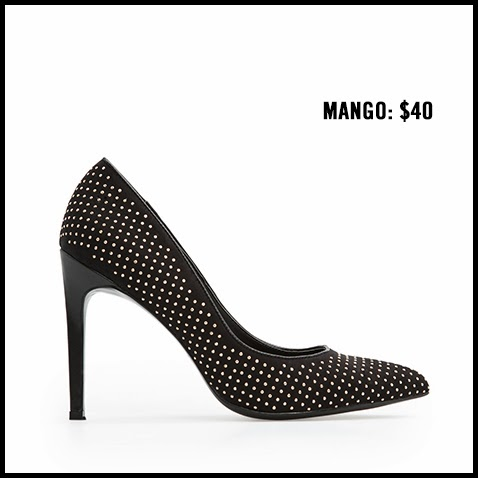 Mango-Black-Studded-Pumps
