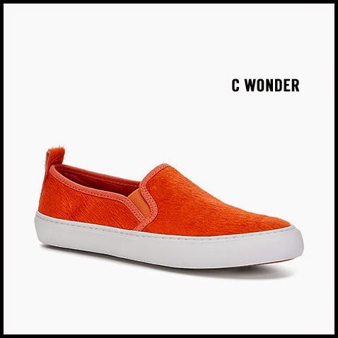 C-Wonder-Orange-Pony-Hair-Slip-On-Sneaker