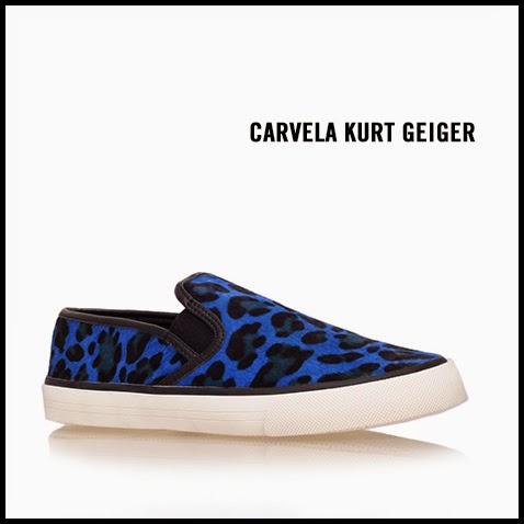 Carvela-Kurt-Geiger-Laurel-Blue-Leopard-Pony-Hair-Slip-On-Sneaker