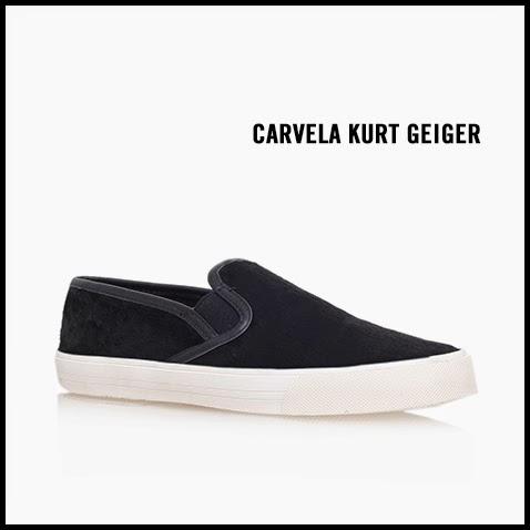 Carvela-Kurt-Geiger-Lorenzo-Black-Pony-Hair-Slip-On-Sneaker