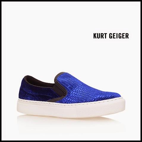 KG-Kurt-Geiger-Londres-Snake-Embossed-Blue-Leather-Slip-On-Sneaker
