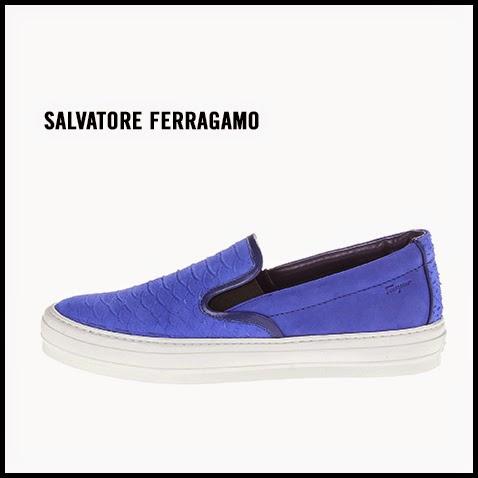 Salvatore-Ferragamo-Blue-Embossed-Slip-On-Sneaker