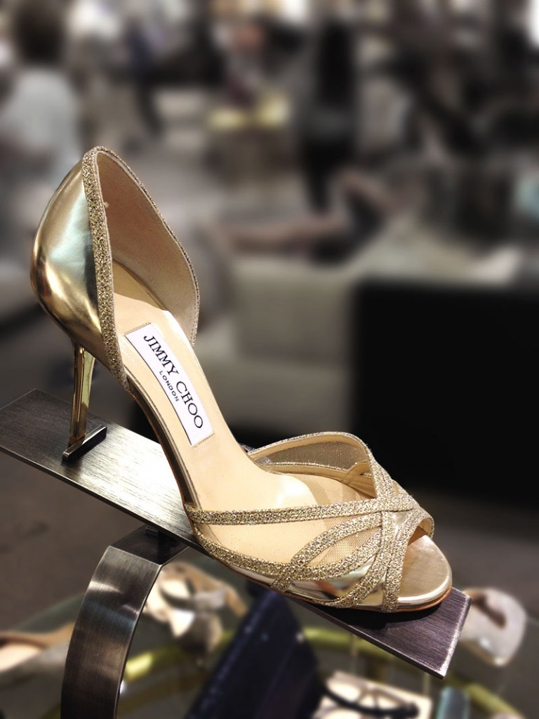 Jimmy Choo Mustique Gold Evening Pump