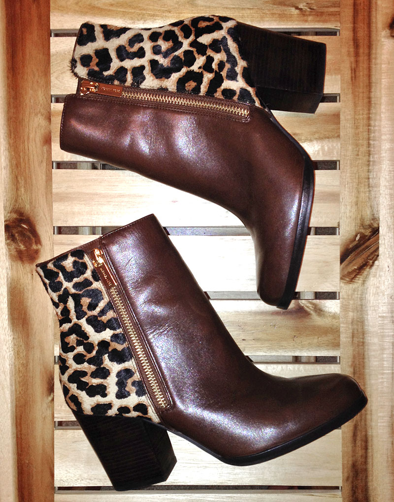 Michael Kors Silvy Leopard Ankle Boot