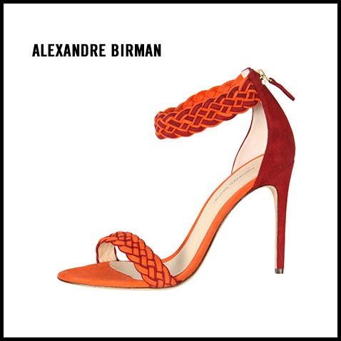 Alexandre Birman Braided Orange Sandal
