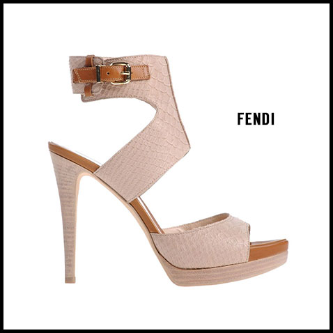 Fendi Tan Textured Sandal