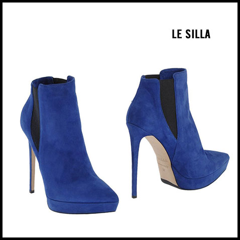 Le Silla Blue Suede Ankle Boots