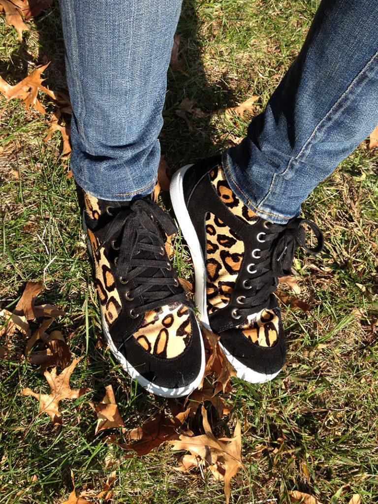 Enzo Angiolini Sovann Leopard Sneaker